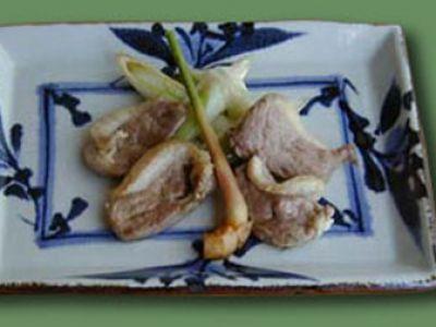厳選:国内・東北産生肉の合鴨を使ってネギとの香ばしい逸品です。【鴨焼き】